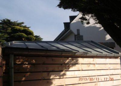 Abri à bateau toiture zinc St Pierre Quiberon