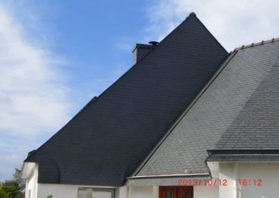 Bardage et cheminée en ardoise Plouharnel