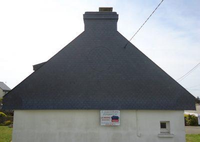 Bardage pignon et cheminée en ardoise Quiberon