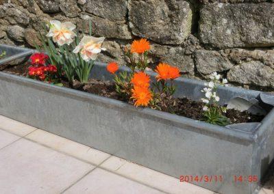 Jardinière zinc naturel Plouharnel